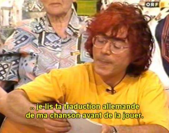 Embedded thumbnail for Alain Stan, télé locale Burgenland, Mille poèmes (de + sous-tifs francais)
